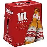 Mahou - 5 Estrellas Cerveza Dorada Lager, 5.5% de Volumen de Alcohol - Pack de 6 x 25 cl
