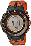 Casio Men's PRG-300CM-4CR Pro Trek Triple Sensor Tough Solar Digital Display Quartz Orange Watch
