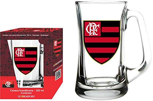 Caneca Scandinavia 355 Ml Flamengo Logo Globimport Transparente