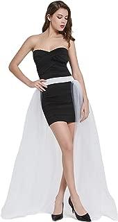 Women Mesh 4 Layers Long Tulle Skirt Floor Length Wedding Party Tutu Skirt