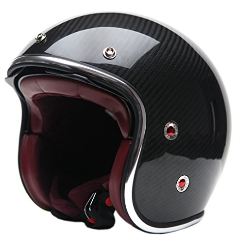 YEMA Helmet YM-628 3/4 Open Face Helmet with Retractable Sun Shield