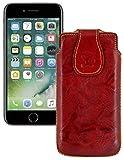 Suncase Original Tasche kompatibel mit iPhone SE 2020 Leder Etui Handytasche Ledertasche Schutzhülle Hülle Hülle in wash-braun