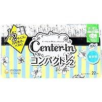 (セット販売)ソフィ センターイン コンパクト1/2 多い昼-ふつうの日用 スリム ハネつき 無香料 22個入×20個セット