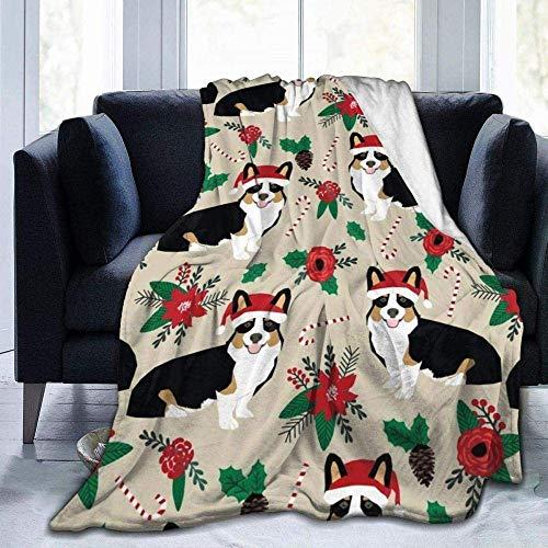 Mantas Cómodo Tiro para Cama Sofá Sofá Oficina Camping Corgis Perro Grande Suave y cómodo Fleece Acogedor sofá Cómodo sofá térmico Sofá cálido Regazo para Cama Sofá Coche