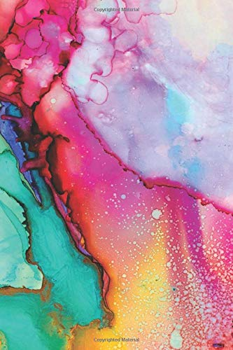 """Watercolor Cover (Vol 1): 120 Pages 6"""" x 9"""" Blank Lined Notebook, Journal or Diary"""