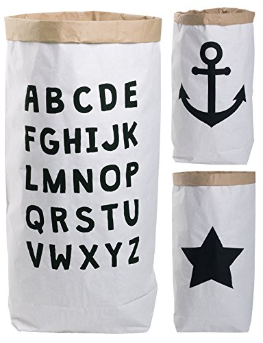 Lifestyle Lover Paper Bag rond kraftpapier zak bruin wit