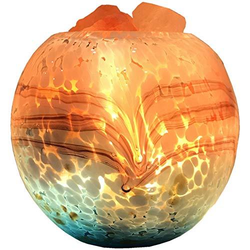 EIU Lámpara De Sal De Cristal del Himalaya Natural Puro, 16 Colores con Control Remoto Lámpara De Sal De Roca De Cristal USB Luz De Noche para Mesita De Noche(Color:Control Remoto)