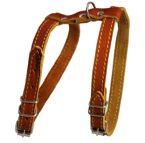 Dogs My Love Real Leather Feline Harness, 16
