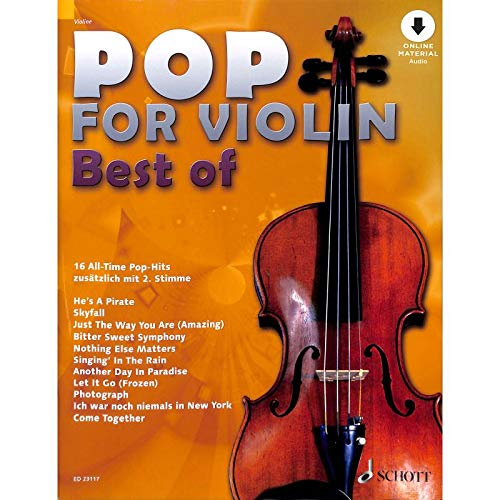Pop for Violin : Best of - 16 All-Time Pop-Hits - Das Beste aus zehn Ausgaben Pop for Violin! - Notenbuch mit bunter herzförmiger Notenklammer