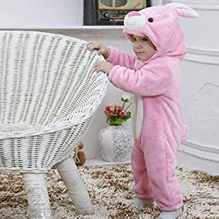 Pink 6M New Baby Romper Cute Rabbit Baby Winter Clothes Infant Girl Boy Fleece Jumpers Kids Baby Outfits Clothes Baby Costume