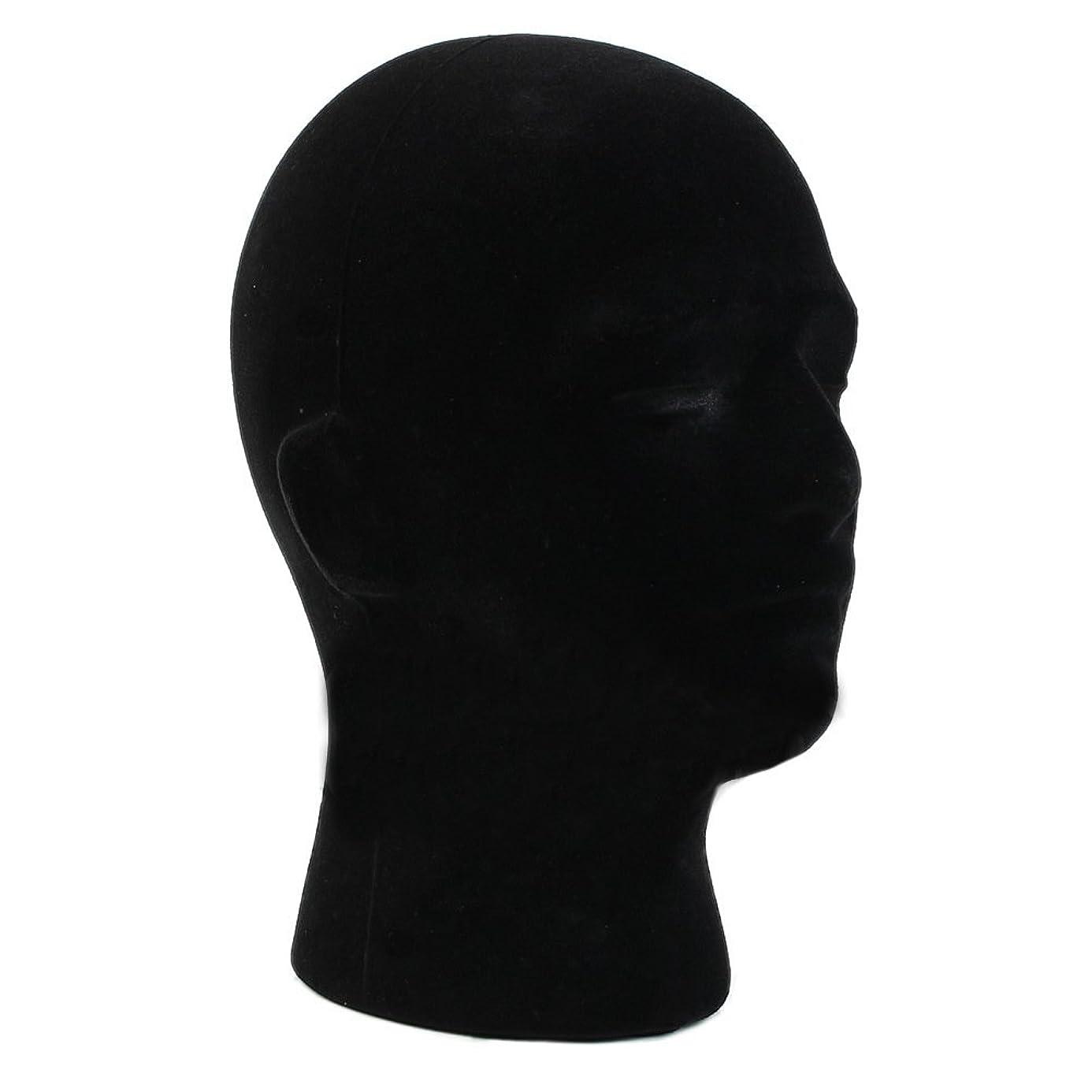 Mannequins - Male Styrofoam Foam Mannequin Manikin Head Model Wigs Glasses Cap Display Stand Black - Debra Dental Pins Styro Clamp Photography Hair Make Skin Bald Chair Dryer Model Brown Barbe