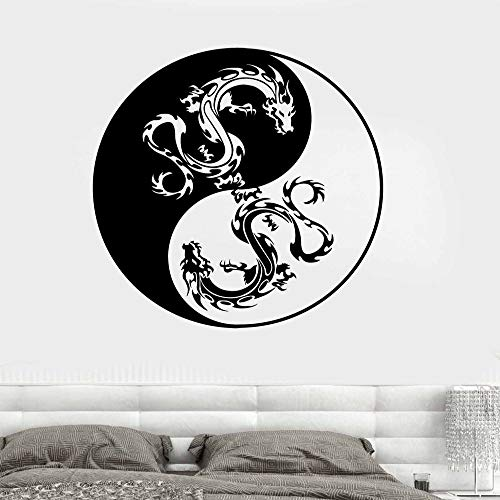 JXND Dekorative Wandaufkleber Mandala Drachen Muster dekorative Wand 58x58cm