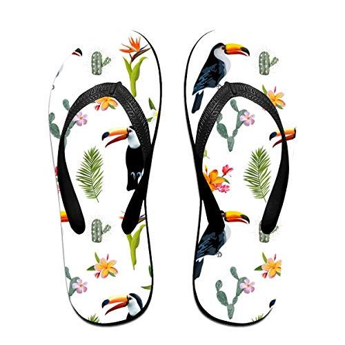 Keshontae Tukan Vogel Kaktus Flip Flops Hausschuhe Strand Sandalen Open Toe Schuhe