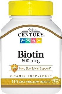 21st Century Biotin 800 Mcg 110 Tabs
