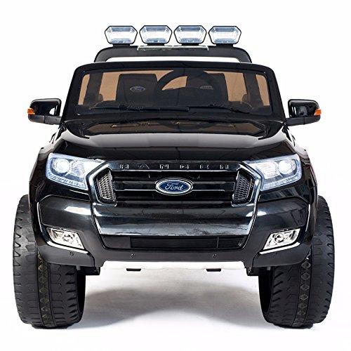 Cristom 4x4 électrique 24Volts Ford Ranger WILDTRAK, télécommande 2.4ghz , Pneu reelle , 2 Places , Prise USB/Radio FM/MP3 , clé reelle , Licence Ford (Noir)