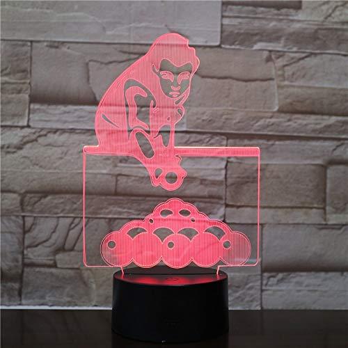 Billard Licht Set Nachtlicht mit Farbe Touch Fernbedienung Illusion ändern Dekoration Lampe