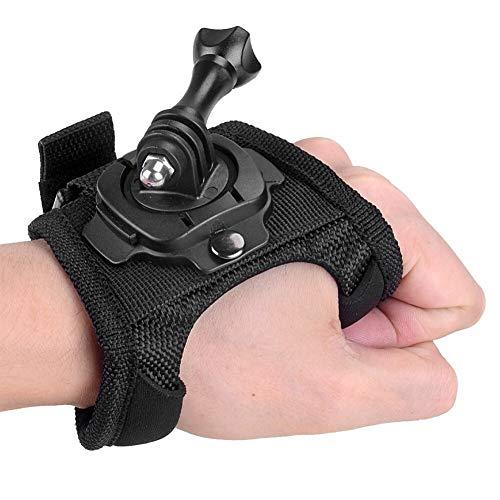 Daxiniu Guante de la muñeca de mano del montaje de la correa de rotación de 360 grados Holder + tornillo largo for GoPro héroe 7/6/5/4/3/2/1 for SJCAM Xiaomi Yi acción de la cámara Accesorios Acceso