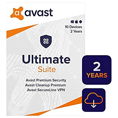 Avast Ultimate 2020 | Antivirus+Cleaner+VPN | 10 Devices, 2 Years [PC/Mac/Mobile Download]