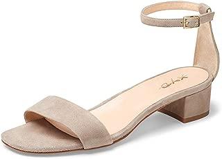 Women Open Toe Strappy Low Block Heel Sandal Pumps Ankle Strap Wedding Dress Shoes
