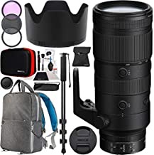 Nikon NIKKOR Z 70-200mm f/2.8 VR S Telephoto Zoom Lens for Z Mount Mirrorless Cameras 20091 Bundle with 77mm Filter Kit + Monopod + Deco Gear Photography Backpack + Photo Video Accessories Kit
