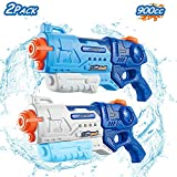 FREE TO FLY Water Gun for Kids - 2 Pack 900cc High Capacity Blaster Squirt for Summer Swimming Pool & Beach Party Favors Water Outdoor Fighting Toy for Kids Adults Boys and Girls