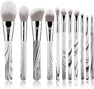 Makeup Set Brush High-End Solid Wood Ink 11 Pieces Marble Pattern Make-Up Brush Travel Portable Make-Up Tool Set D-339 Det...