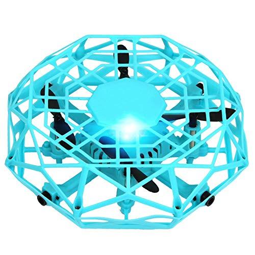 Mini drone voor kinderen, vliegspeelgoed handgestuurde drone automatische detectie intelligente vierassige vliegtuigvering indoor outdoor speelgoed voor kinderen volwassenen beginners blauw groen oranje