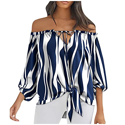 Camiseta de mujer de gran tamaño, con un hombro, con estampado de...