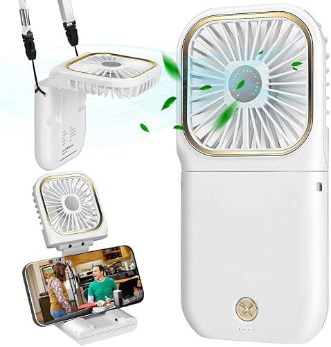 Mini Ventilador de Mano, Ventilador USB, Ventilador de Escritorio, Ventilador Portátil, Ventilador de Mesa Ventiladores Recargable USB para al Oficina, Hogar, Viajes, Exterior