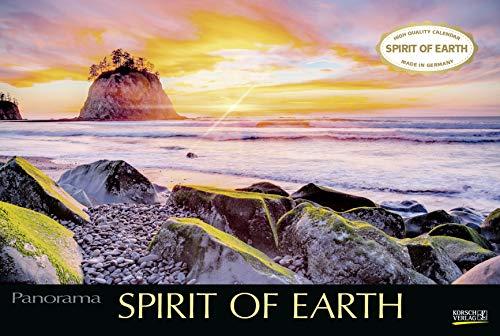 Spirit of Earth 2021: Großer Foto-Wandkalender über die atemberaubende Natur unserer Erde. Panorama Querformat: 58x39 cm.