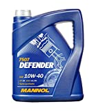 MANNOL 10256600500 Defender 10W40 SL/CF - Aceite semisintético para Motor, 5 l