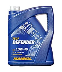 MANNOL Defender Motoröl 10W-40, API SL, ACEA A3/B4, semi-synthetisch, 5 Liter