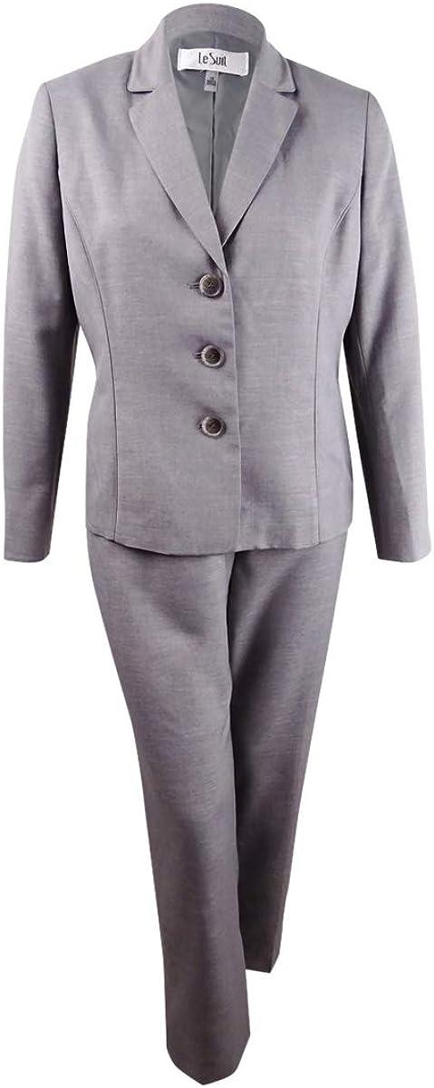 Le Direct Dealing full price reduction stock discount Suit Women's Melange 3 Button Collar Pant Notch