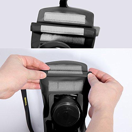 デジカメ防水ケース防水デジカメケースカメラ防水カバーcasio/olympus/sony/nikon/yashica/canon/panasonic/fujifilmデジカメ防水ケースレインカバー黒