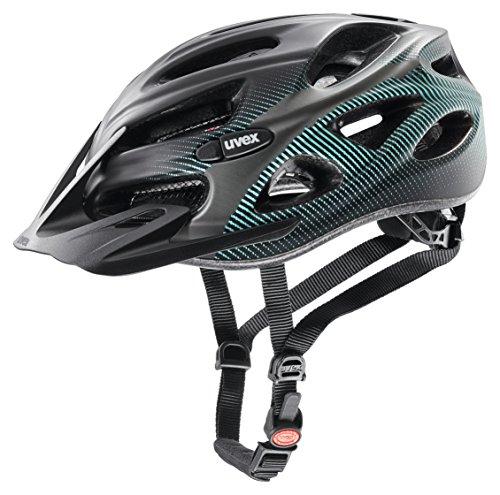 UVEX Erwachsene Fahrradhelm Onyx CC, Black/Teal Mat, 52-57 cm, 4145420515
