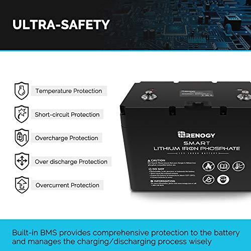 Renogy Li 12V 100Ah Smart Lithium Iron Phosphate Battery