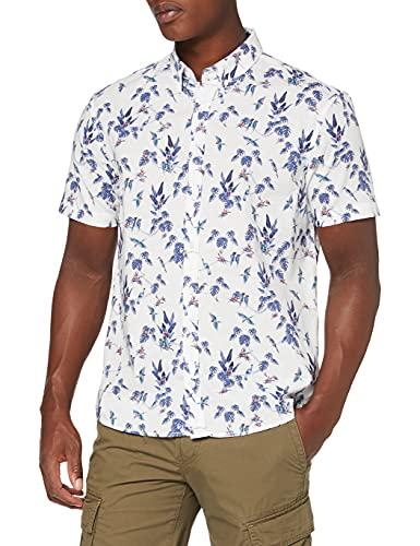 Photo of Joules Men's Lloyd Slub Shirt, White Jungle, XXL