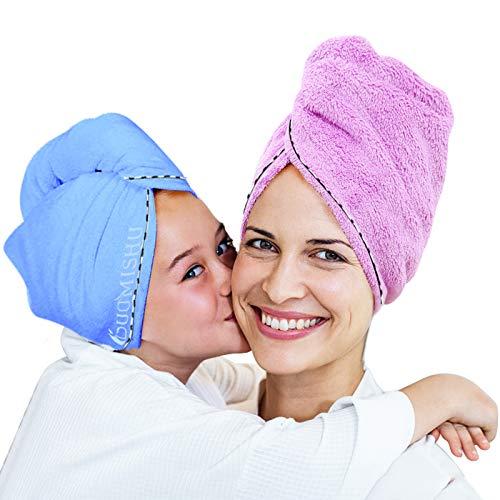 2 Pack Bigger Plus Size Hair Towel …