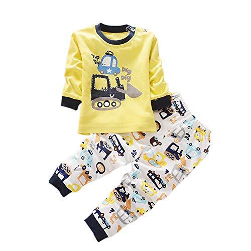 Blaward Zweiteilige Schlafanzüge Langarm für Baby Jungen Mädchen Baumwolle Schlafanzugoberteile Schlafanzughosen Pajama Sets 0-4Jahre