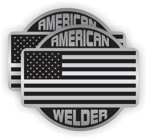 Two (2) Best Seller American Welder   Hard Hat Stickers - USA Union