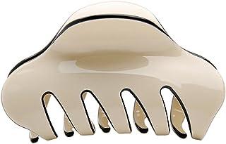 COK-AU Fashion Acrylic Women Ladies Solid Color Grip Accessories Hair Claw Clip (Beige)