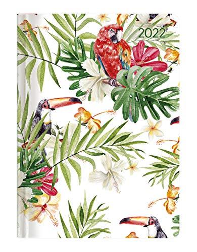 Alpha Edition - Agenda Settimanale Ladytimer 2022, formato tascabile 10,7x15,2 cm, Giungla, 192 pagine