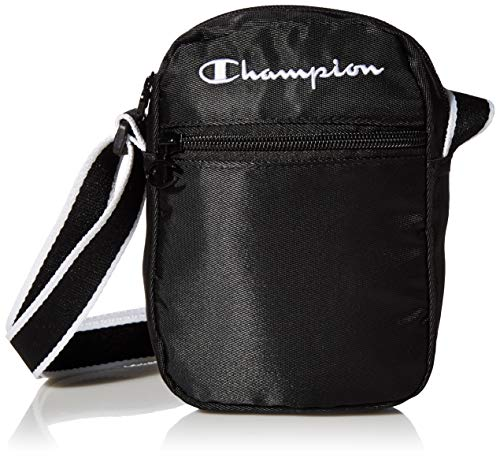 Champion Unisex Cross Body Bag Crossbody-Umhängetasche, Schwarz, One size