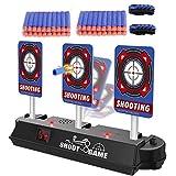 Airtana おもちゃ 電子ターゲット 7pcsセット Nerfナーフ対応 電子銃射撃ターゲット 自動起き上がり機能 子供玩具 電子ターゲット*1+弾丸*4列(合計40枚)+リストハンド*2