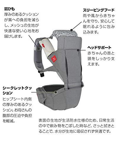 i-CallアイコールHUGLightヒップシートキャリア(カーキ(IC-105-MK-JP))