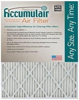 Accumulair Platinum 30x36x1 (Actual Size) MERV 11 Air Filter/Furnace Filters (6 pack)