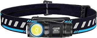 TrustFire MC12 ヘッドライト、 多目的充電式LED懐中電灯 、1000ルーメン 4段階切替 磁気充電 IPX8防水 フラッシュライト、 XP-L HI LED搭載 IMR16340 650Mah付き マグネット式充電ケーブル ヘッ...