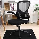 オフィスチェア デスクチェア メッシュ 椅子 ハイバック パソコンチェア 事務用椅子 通気性抜群 昇降機能付き ロッキング機能 (Black)