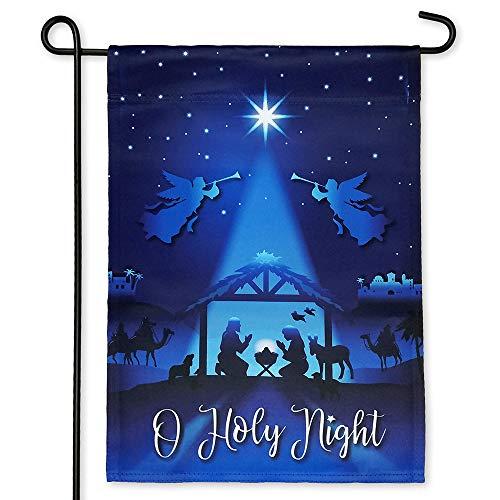 Nativity Garden Flag for Christmas
