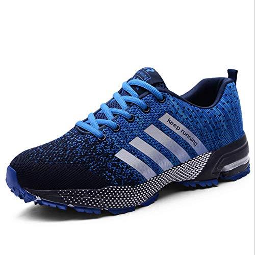 Bigsale Laufschuhe Retwin Turnschuhe Straßenlaufschuhe Sneaker mit Snake Optik Damen Herren Sportschuhe (42 EU, Blau)